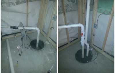 Sump Pump Discharge Pipe